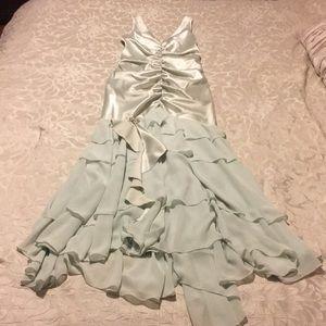 Jessica McClintock green fit/flare cocktail dress